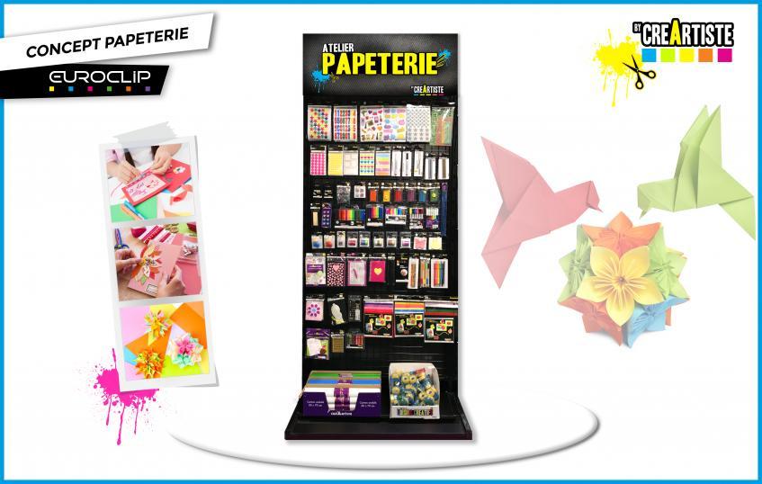 Présentoir - Atelier papeterie - Bois noir